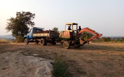 Bauarbeiten in Mpanga – es geht vorwärts!